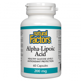Natural Factors Alpha Lipoic Acid 200mg 60 Capsules
