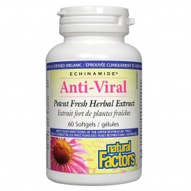 Natural Factors ECHINAMIDE® Anti-Viral Extract 60 Softgels