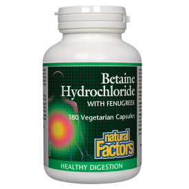 Natural Factors Betaine Hydrochloride With Fenugreek 180 Capsules