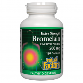 Natural Factors Bromelain Pineapple 180 Capsules