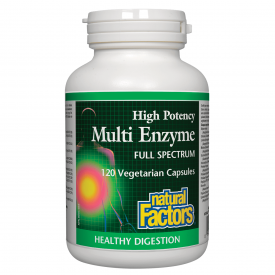Natural Factors Multi Enzyme High Potency 120 Veggie Caps