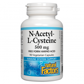 Natural Factors N-Acetyl-L-Cysteine 500mg 90 Veggie Caps