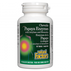 Natural Factors Papaya Enzymes 60 Chewable Tablets