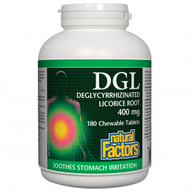 Natural Factors DGL 400mg 180 Chewable Tablets