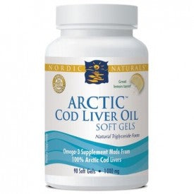 Nordic Naturals Arctic Cod Liver Oil Lemon 90 Softgels