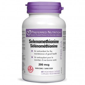 Preferred Nutrition Selenomethionine 200mcg 60 Veggie Caps