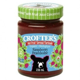 Crofters Organic Just Fruit Spread Raspberry 235mL