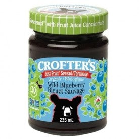 Crofter's Organic Just Fruit Spread Wild Blueberry 235mL