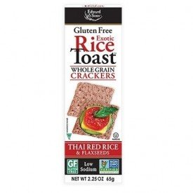 Edward & Sons Exotic Rice Toast Thai Red Rice & Flaxseeds 65g