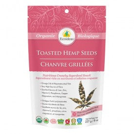 Ecoideas Toasted Hemp Seeds Pink Himalayan Salt Organic 227g