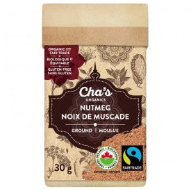 Cha's Organics Nutmeg Whole 30g
