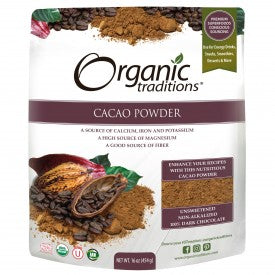 Organic Traditions Organic Cacao Powder 454g