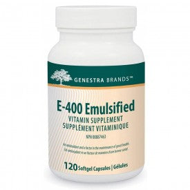 Genestra E-400 Emulsified 120 Softgels