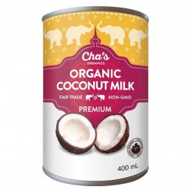 Cha's Organics Coconut Milk Premium 400mL