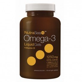 NutraSea Omega-3 +D Liquid Gels Mint 60 Softgels