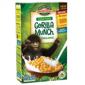 Nature's Path Organic Cereal Envirokidz Corn Puffs Gorilla Munch 284g