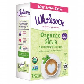 Wholesome Stevia Organic 75 Packs