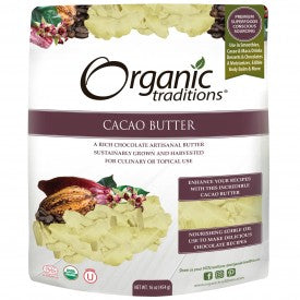 Organic Traditions Organic Cacao Butter 454g