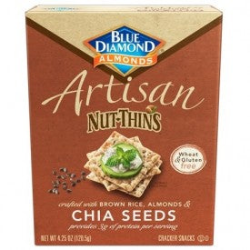 Blue Diamond Artisan Nut Thins Chia Seed 120g