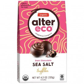 Alter Eco Chocolate Organic Dark Truffles Sea Salt 120g