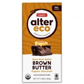 Alter Eco Chocolate Organic Dark Salted Brown Butter 80g
