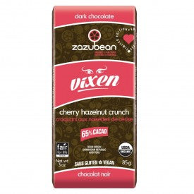 Zazubean Organic Dark Chocolate Vixen Bar 85g