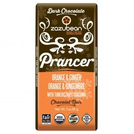 Zazubean Organic Dark Chocolate Prancer Bar 85g