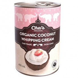 Cha's Coconut Whipping Cream Organic 400mL