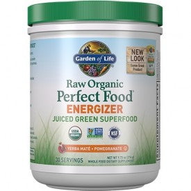 Garden of Life Raw Organic Perfect Food Energizer Yerba Mate Pomegranate Powder 276g