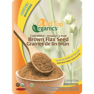 Gold Top Organics Cold Milled Brown Flax Seed 454g