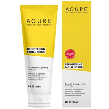 Acure Brightening Facial Scrub Sea Kelp & French Green Clay  118 mL