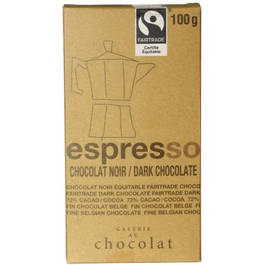 Galerie au Chocolat Espresso Dark Chocolate Bar 100g