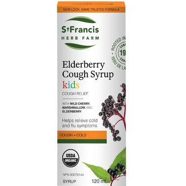 St. Francis Herb Farm Elderberry Cough Syrup for Kids