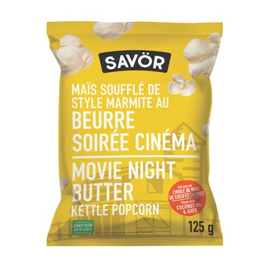 Savor Kettle Popcorn Movie Night Butter 125g