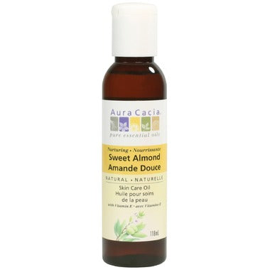 Aura Cacia Sweet Almond Skin Care Oil 118 mL