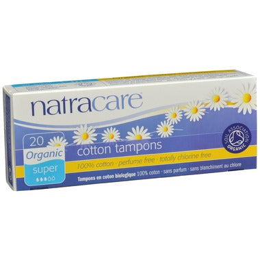 Natracare Organic Tampons Non-Applicator, 20 super