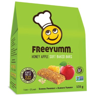 FreeYumm Honey Apple Oat Bars