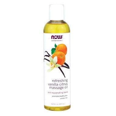 NOW Solutions Refreshing Vanilla Citrus Massage Oil  237 mL