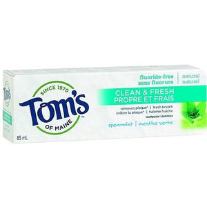 Tom's of Maine Clean & Fresh Fluoride-Free Toothpaste  spearmint 85 mL