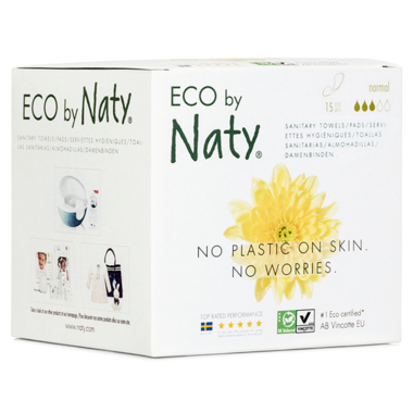 Eco by Naty Sanitary Pads Normal, 15 pcs