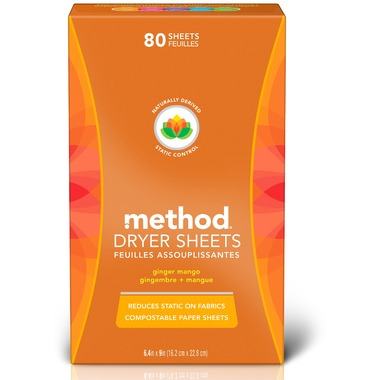 Method Dryer Sheets Ginger Mango