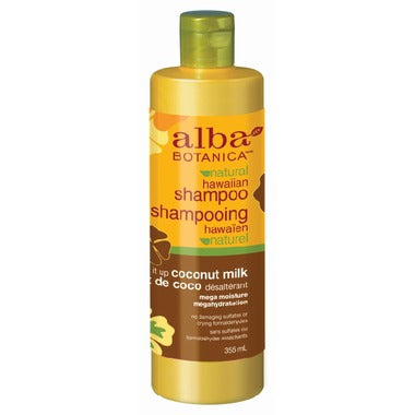Alba Botanica Natural Hawaiian Shampoo, drink it up coconut