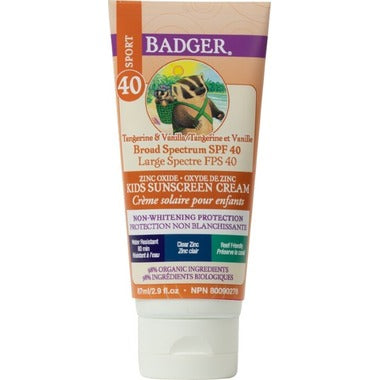 Badger SPF 40 Kids Clear Zinc Sunscreen