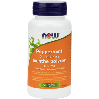 NOW Foods Peppermint Oil 180mg. 90 softgels