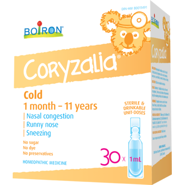 Boiron Coryzalia, 1 Month - 11 Years 30 x 1 mL Doses