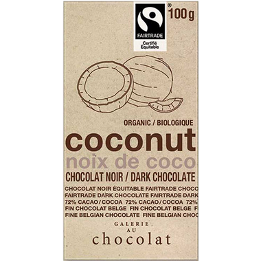 Galerie au Chocolat Coconut Dark Chocolate Bar 100g
