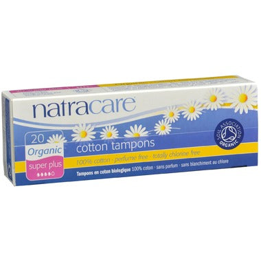 Natracare Organic Tampons Non-Applicator, 20 super plus