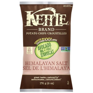 Kettle Avocado Oil Himalayan Salt Potato Chips  170g