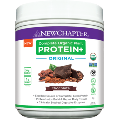 New Chapter Complete Organic Plant Protein+ Original Chocolate