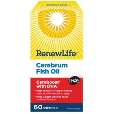 Renew Life Cerebrum Fish Oil Cereboost with DHA
